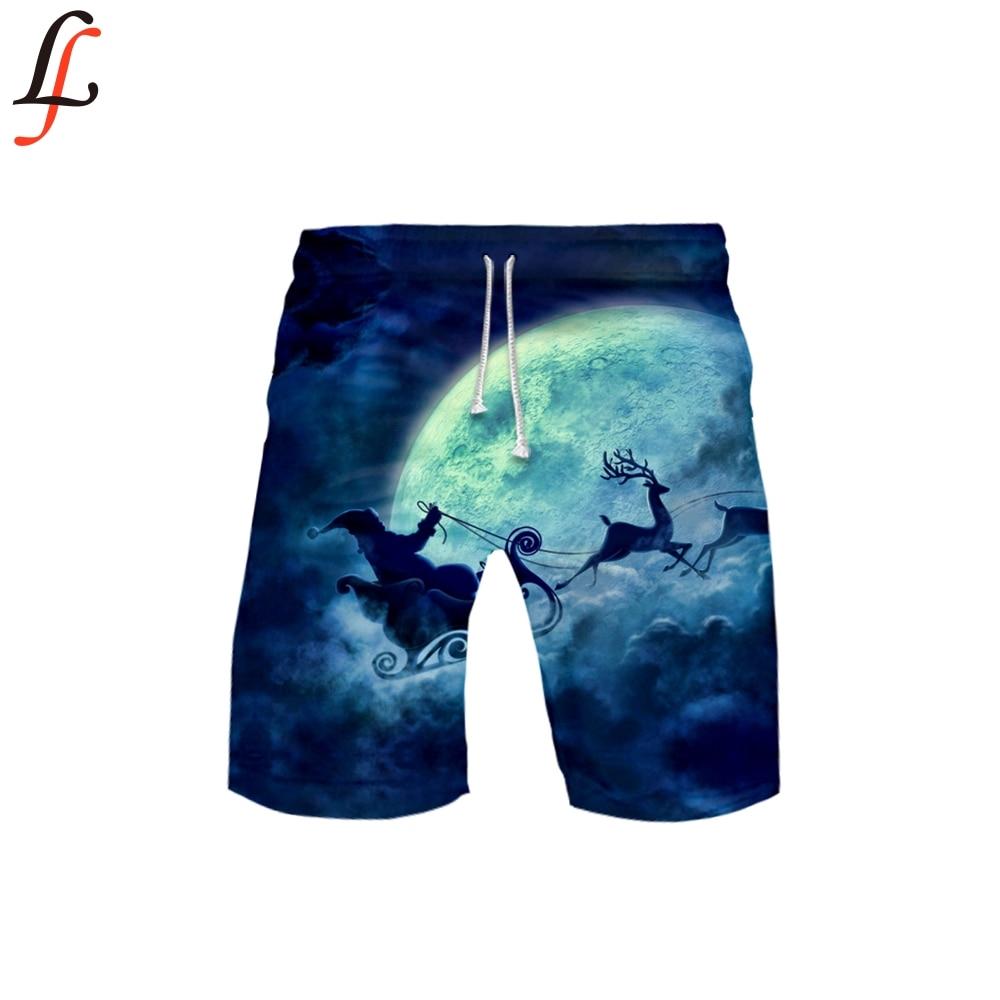 Christmas 3D Pocket Quick Dry Swimming Shorts For Men Swimwear Man Swimsuit Swim Trunks Summer Bathing Beach Wear Surf