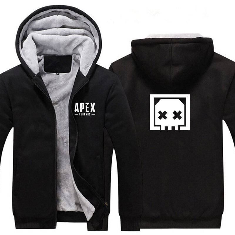 New Apex Legends Thicken Hoodie Sweatshirts Cosplay Costume Anime Winter Warm Coat Hooded Men Adult Clothing