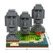 hot LegoINGlys creators city Street view The Easter Island Statue mini micro diamond building blocks model bricks toys for gifts цены онлайн