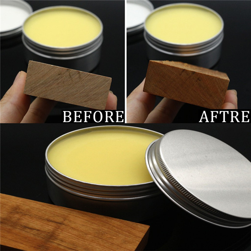 Wooden Furniture Care Wax Practical Wood Care Wax Solid Wood Maintenance Nutrition Wax 200g Aluminum Canned material 30AUG26 (2)