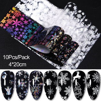 10 Pcs Rose Flowers Nail Foils Tropical Leaves Colorful Nail Decals Transfer Decorations Sets for Manicuring DIY Sticker Slide 15