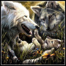 5d diamond painting full embroidered animal wolf picture cross stitch embroidery mosaic decoration gift