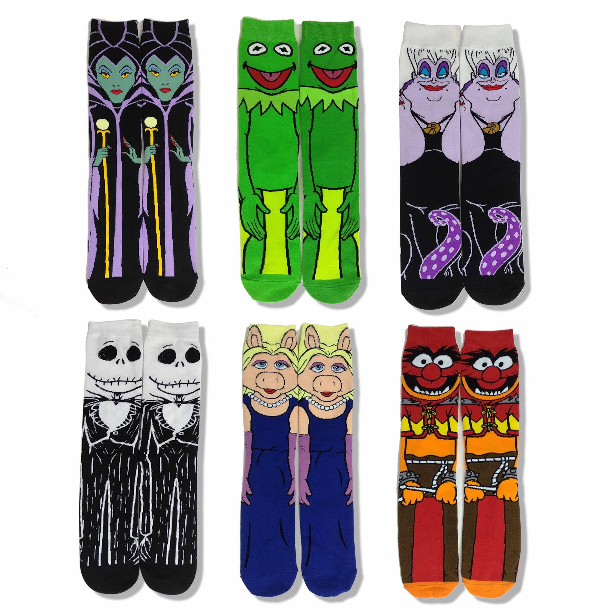 Cotton Anime Mens Socks Dress Casual Hip Hop Stance Socks Unisex Harajuku Creative Winter Warm Cartoon Character Socks