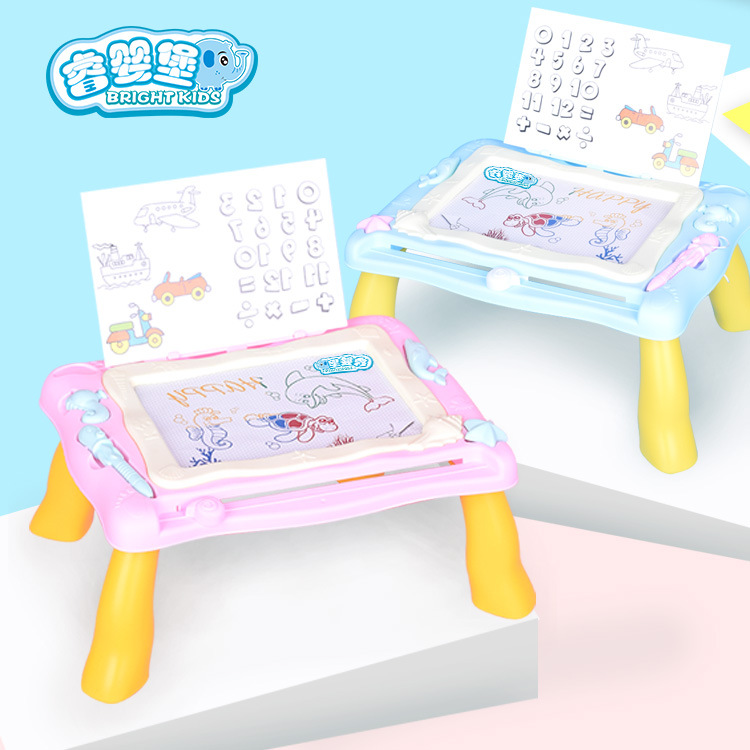 Children Colorful Hua Ban Zhuo Baby Graffiti Hand Sketchpad Magnetic Painted Graffiti Writing Board Educational Early Childhood
