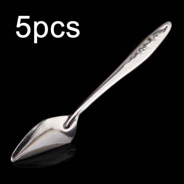 5 Pcs Baby Bird Pointed Feeding Spoon Stainless Steel Milk Medicine Parrot Feeder for All Baby Bird Peony Cockatiel 1