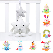 Baby Rattles Toy For Stroller Music Star Crib Hanging Newborn Mobile Rattle Babies Educational Plush Toys Baby Toys 0-12 Months(China)