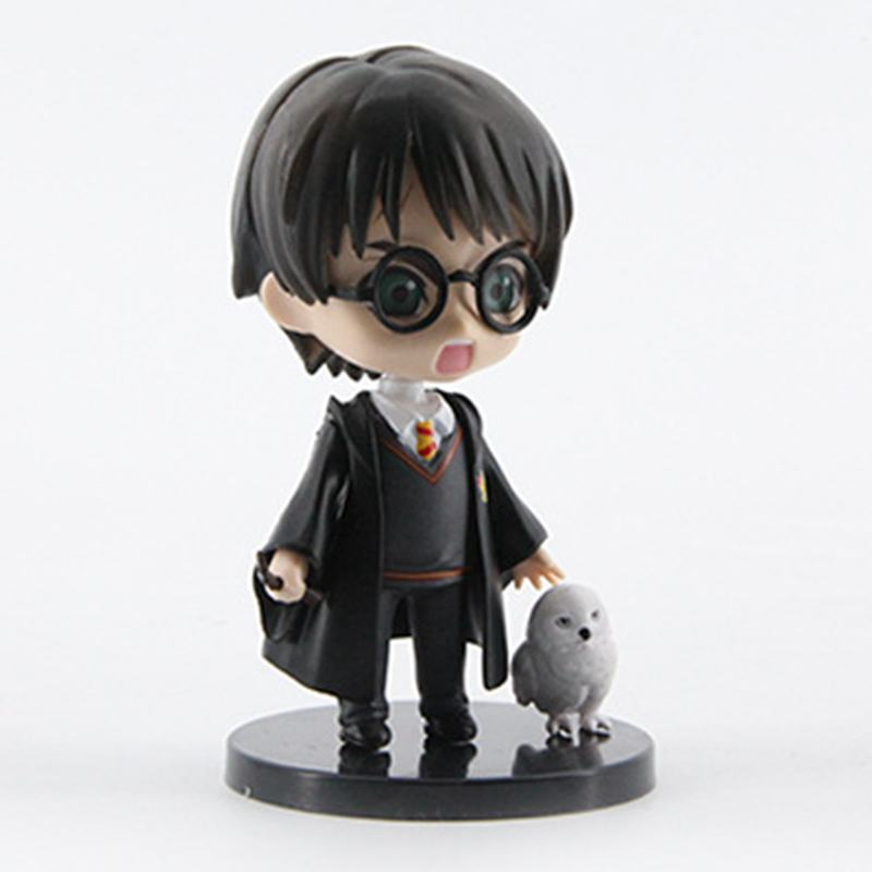 Image 4 - 6pcs/set 8 10cm  Movie Harri Ron Hemione Action Figures Doll Magician Potters Cake Decoration ToyAction & Toy Figures   -
