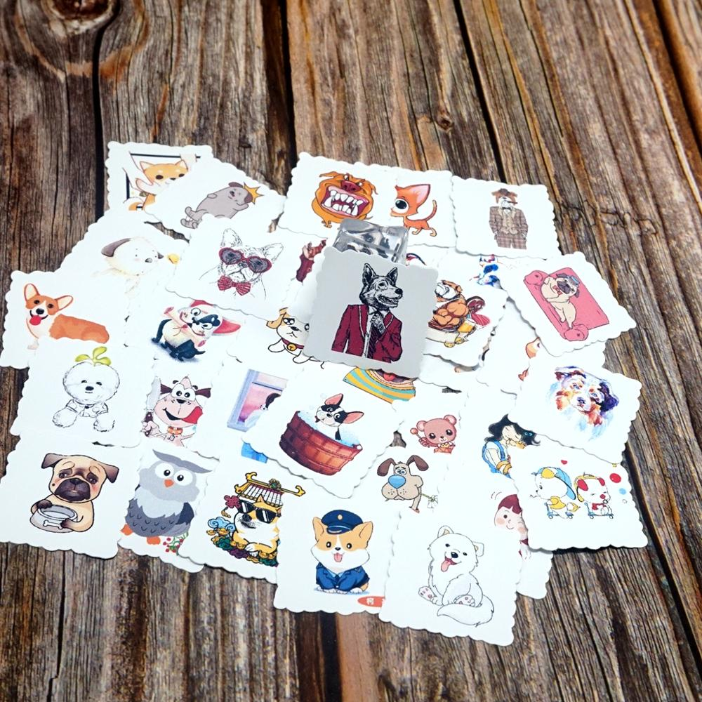 35pcs Lovely Animals Waterproof Stickers DIY Diary Photo Decorative Scrapbooking Stationery Stickers Kids Students Gift Stickers