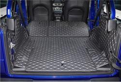 고품질! 지프 랭글러를위한 특수 자동차 트렁크 매트 JL 4 도어 2020-2018 랭글러 2019 용 방수 카고 라이너 부츠 카펫