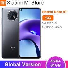 2021 versión Global Xiaomi Redmi Note 9T 5G teléfono móvil 4GB RAM 64GB ROM de la dimensión 800U 5000mAh batería de la batería DotDisplay pantalla NFC