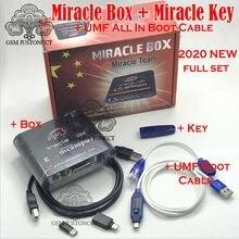 Miracle box com chaveiro miracle, dongle + umf cabo de bota para celulares da china, desbloqueio e reparo, novo, 2020