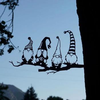 Stalowa gałąź gnomy dekoracje metalowe sztuka przedstawiająca drzewo metalowe gnomy ogrodowe stalowe srebrne metalowe sztuki   Sztuka ogrodowa   Sztuka podwórkowa   Sztuka przedstawiająca drzewo tanie i dobre opinie ISHOWTIENDA CN (pochodzenie) CHRISTIAN Retro i nostalgia Stare meble Tekstylia i tkaniny