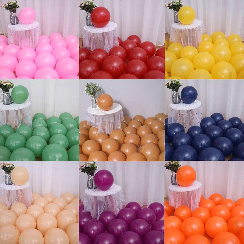 Balões de látex 10 polegada grandes balões de festa de hélio para a festa de aniversário do casamento suprimentos decorações de cerimônia 30/50/100 pces