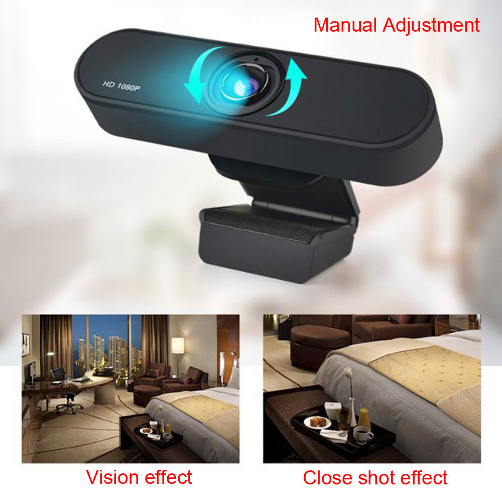 1080P USB Webcam in Clip-on Design with Built-in Noise Isolating Microphone 5
