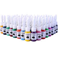 54 Bottle Permanent Tattoo Makeup Ink For Body Art Tattoo Pigment Tattoo Ink Set Tattoo Supplies Ink No Harm To Skin Pigment