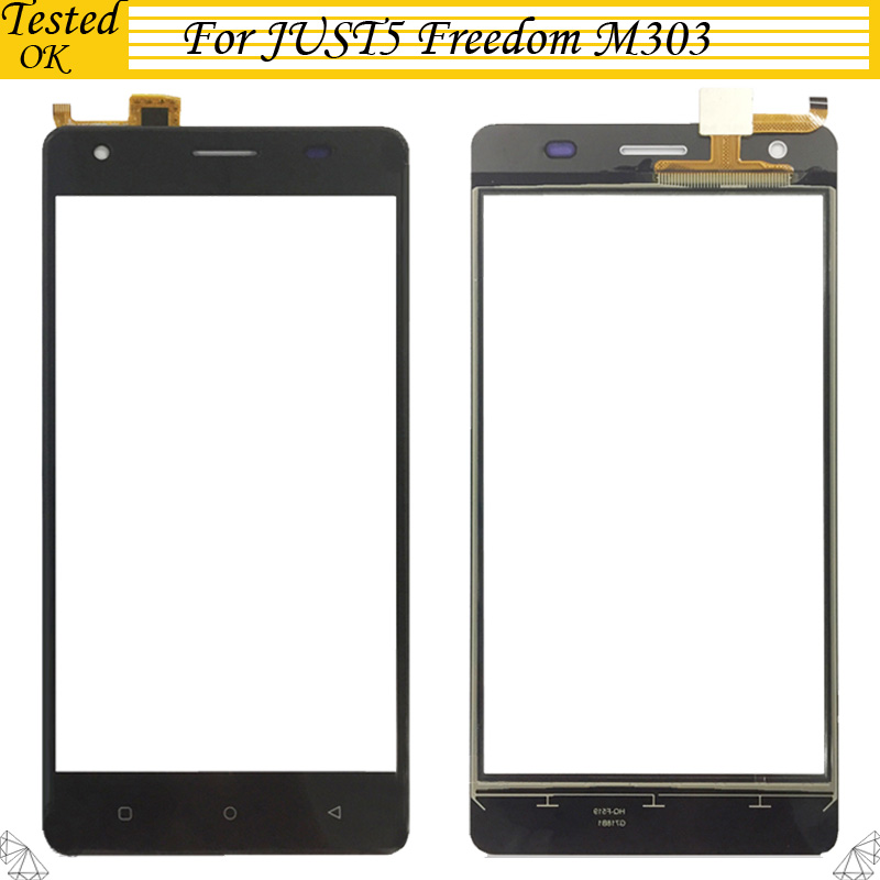 For JUST5 Freedom M303 Touch Screen Panel Lens Glass Screen Parts Digitizer For JUST5 M 303 TouchScreen(China)