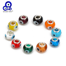 Lucky Eye 10Pcs/Lot Turkish Evil Eye Beads Multi Color Dropping Oil Beads for Bracelet Fashion Jewelry Making Accessories EY6755