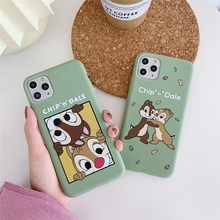 Linda funda de teléfono ardilla para iphone 11 PRO 7 funda de dibujos animados Chip Dale Coque para iphone 6 6S 8 Plus X XS XR funda trasera suave TPU nueva(China)