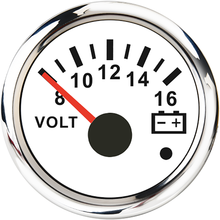 8-16V/16-32V Voltmeter 52mm Volt Meter Car Gauge Voltage For Marine Boat Truck Motorcycle RV Red Backlight 12V/24V Indicator