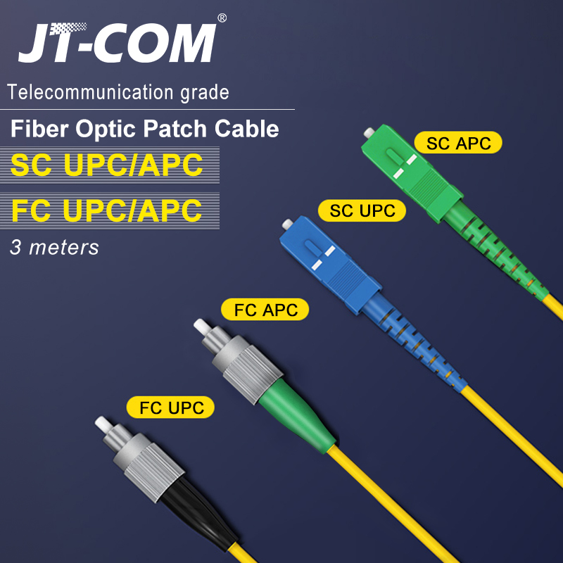 3M Fiber Optic Patch Cable SC/FC/ST/LC APC Fiber Connector Single Mode Single Core Optical Fiber Patch Cord