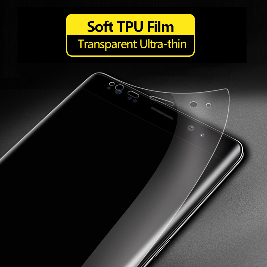 Hydrogel Silicone TPU Screen Protector Full Glue Cover Sticker Film For iPhone XS Max XR iphone X 7 8 6 6S Plus 11 pro max
