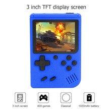 Built-in 400 jogos de bolso player de vídeo de tela colorida tft de 3 polegadas handheld gamepad portátil retro console de jogos crianças presente