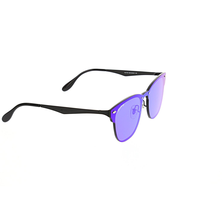 Women's sunglasses mu 1751 02 metal black organic square square 52-21-140 mustang