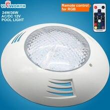 Rgb светодиодный светильник для бассейна 24 Вт 36 фонтан 12