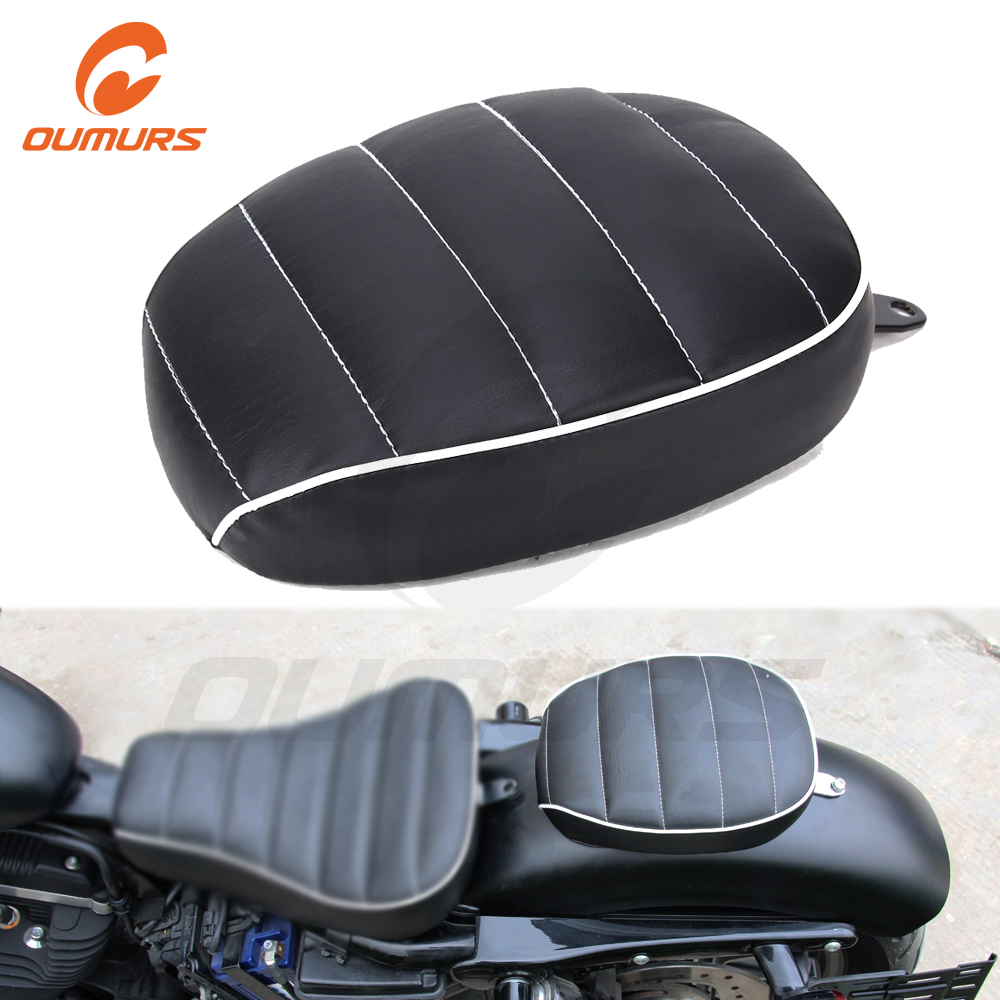 OUMURS Motorcycle <font><b>Rear</b></font> Passenger Pillion Pad <font><b>Seat</b></font> For Harley Sportster XL1200 XL883 Forty Eight Seventy Two <font><b>Iron</b></font> <font><b>883</b></font> 2010-2016 image