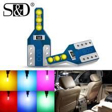 Bombilla Led para Interior de coche, luz blanca, roja, amarilla, azul, verde, rosa, 12V, T10, W5W, WY5W, 194, 168, 2 uds.