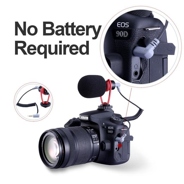 Ulanzi sairen q1 on-camera video recording mic shotgun interview vlog mic universal for dslr android iphone smartphone gopro