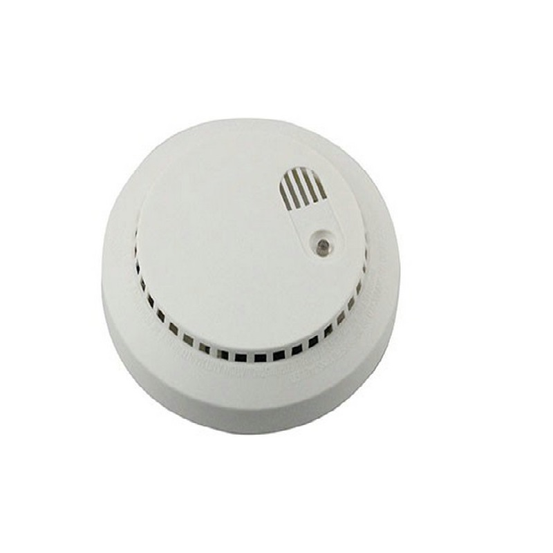 (4pcs) 2020 New Dual-voltage Smoke Detector 9V Battery Operated With 220V Safearmed Security Factory  Fire Alarm