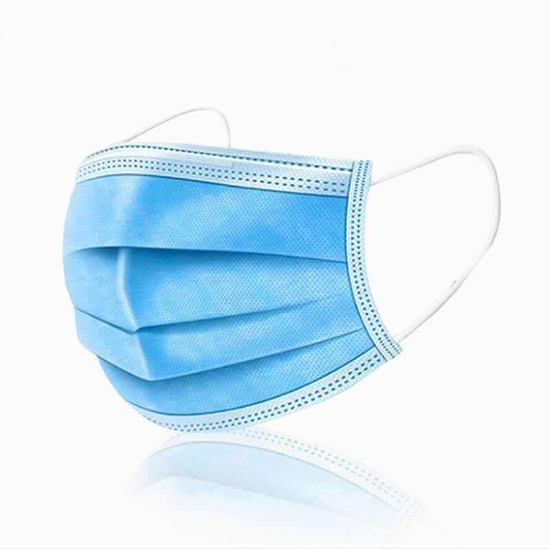 Image 2 - 5 200 Uds máscara desechable no tejida 3 capas capa filtro máscara boca máscara filtro facial seguro máscaras transpirables a prueba de polvoMascarillas   -
