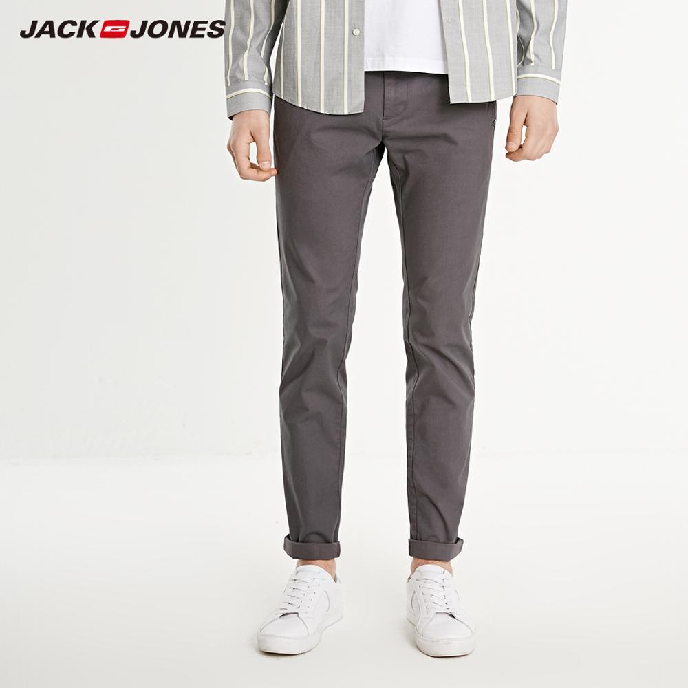 JackJones men's basic smart casual solid colour pants  219114573