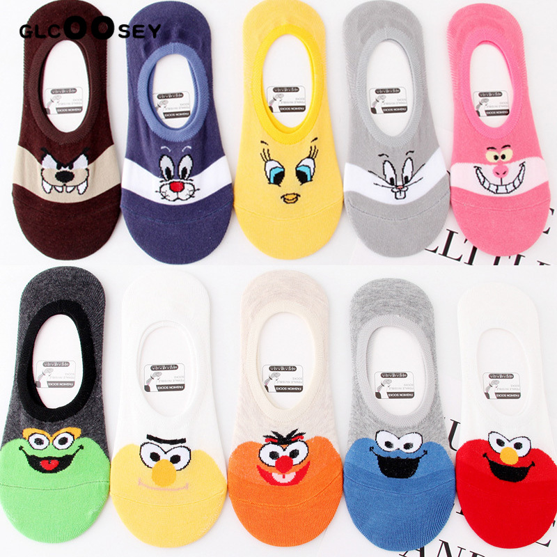 Cotton Women Socks Creative Casual Cotton Funny Animals Socks Female Cute Kawayi Girls