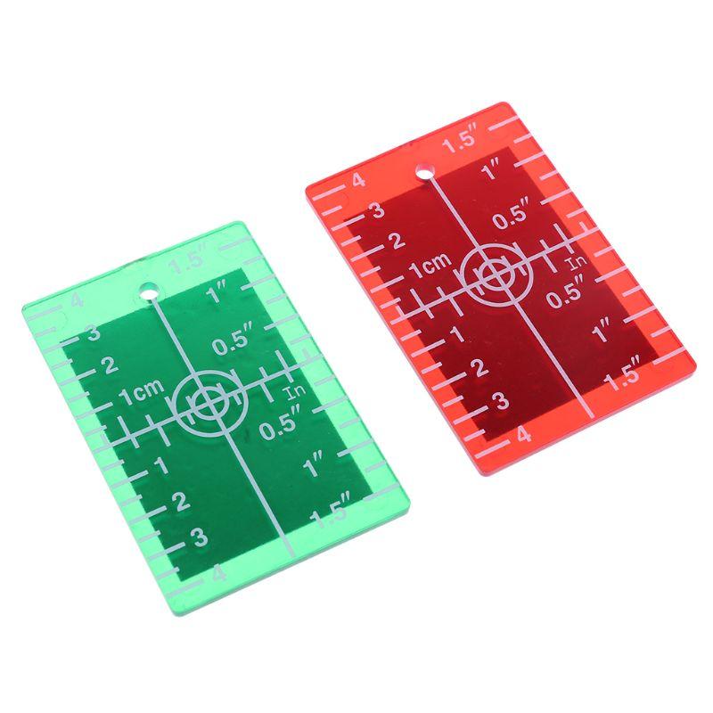 Пластина для лазерной карты дюйма/см для зеленой и красной целевой пластины лазерного уровня