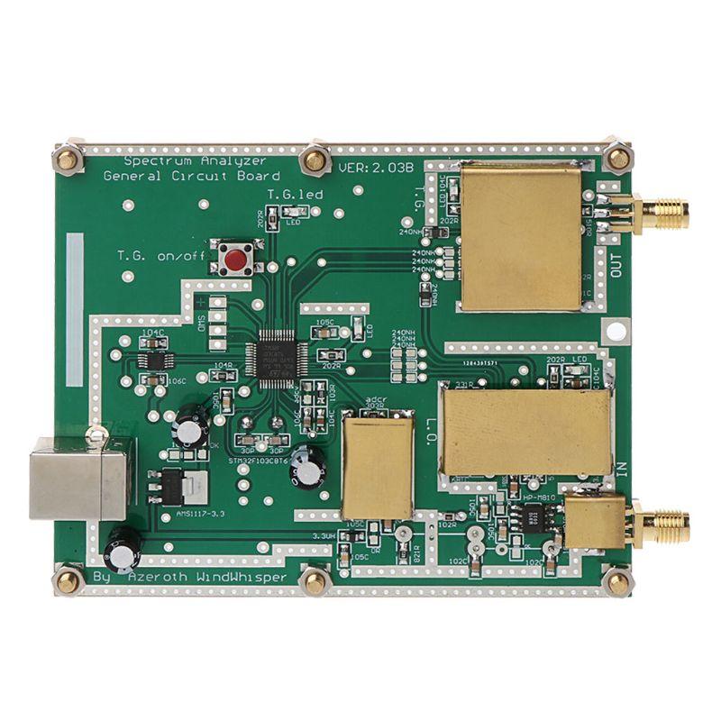Analyseur de spectre Simple D6 avec Source de suivi du générateur de traces T.G. V2.032 Instrument d'analyse de domaine de fréquence de rapport de signaux