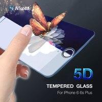Protector de pantalla de vidrio templado para iPhone, Protector de pantalla curvado 8 para iPhone 7 plus 9H 3D/4D 6 6s X XS XR MAX 11 12 PRO MAX