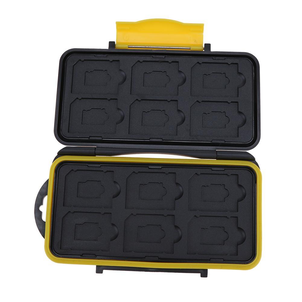 Multi-grid Large Capacity Waterproof Storage Saving Deposit Card Box Holder Shock-proof Memory Cards Case 153x90x20mm 5