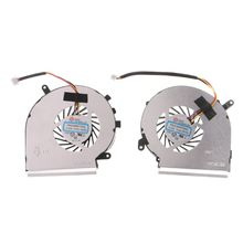 1Pair 4Pins Cooler Cooling Fan for MSI GE62VR GP62MVR GL62M Laptop CPU GPU