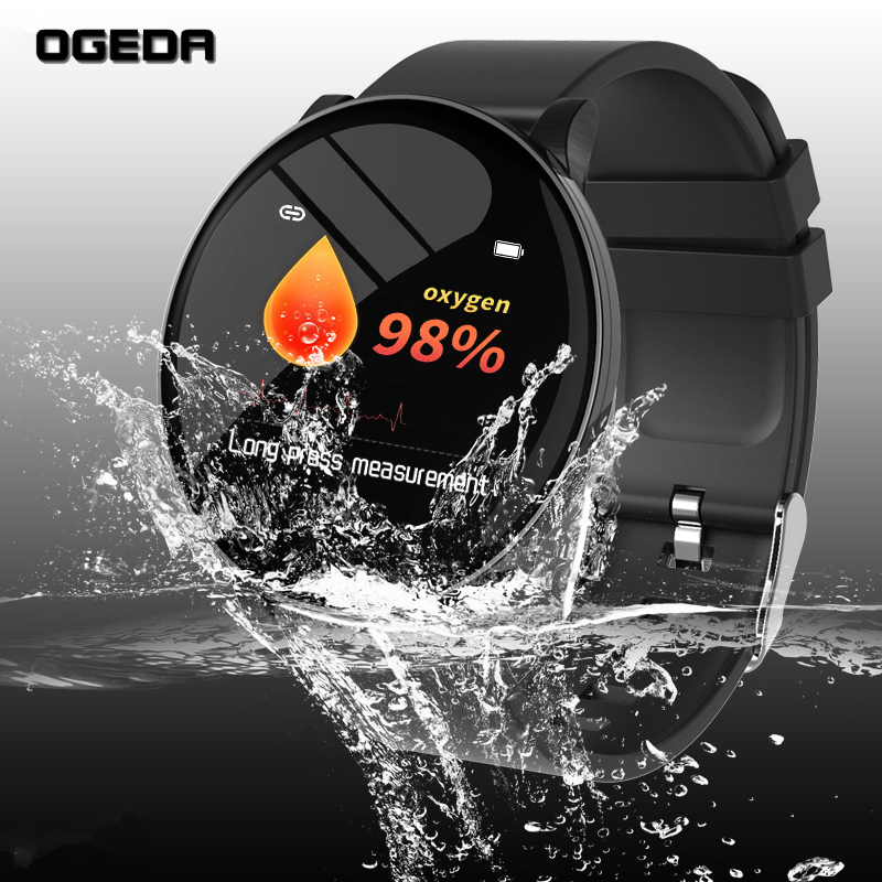 <font><b>2019</b></font> OGEDA <font><b>New</b></font> Men <font><b>smart</b></font> <font><b>watch</b></font> Waterproof Heart rate health monitoring multi-sports mode Bluetooth OTA upgrade reloj inteligente image