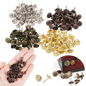 50Pcs/lot Antique Bronze Tacks Upholstery Nail Jewelry Gift Wine Case Box Sofa Decorative Tack Stud Pushpin Doornail Hardware