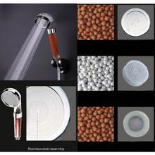 Усилитель спа анионная вода ручной фильтр насадка для душа насадка для ванны душевая головка анион ручная душевая головка