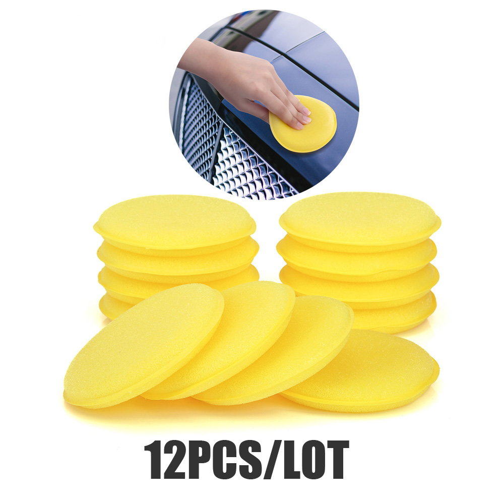 12 Pieces Car Wash Detailing Wax Polish Foam Sponge For Car Body Glass Wash Cleaning Tools Car Care Clean Kits Tools Accessories