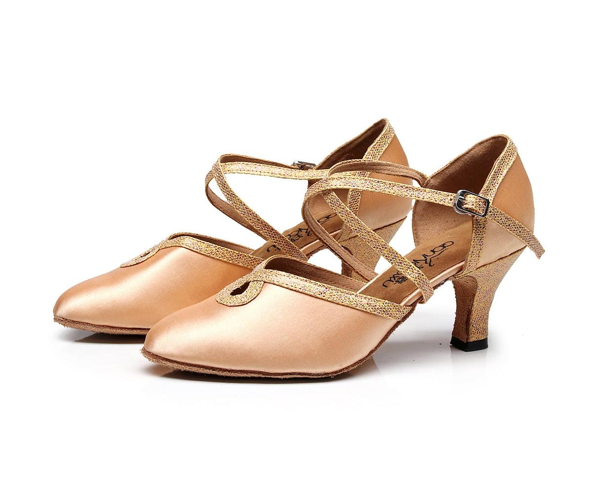 2020 Coupon Hot Salsa Jazz Ballroom Latin Dance Shoes For Dancing Women Chinese Waltz With Heels Pumps 6133 Schoenen Beige Pump