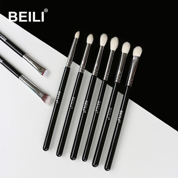 BEILI 8pcs Classic Black Pro makeup brushes
