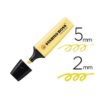 Rotulador Stabilo Boss Pastel Amarillo claro