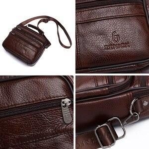 Image 5 - Messenger Bag Men Genuine Leather Bag Luxury Handbag Belt Bags Shoulder Bags For Men 2019 Fashion Flap Male Leather Handbags KSK