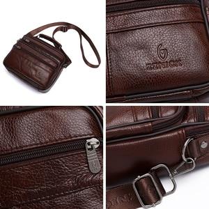 Image 5 - Sacoche en cuir véritable pour hommes, sacoche de luxe, sacs à bandoulière à rabat Fashion, sacs à main KSK, 2019