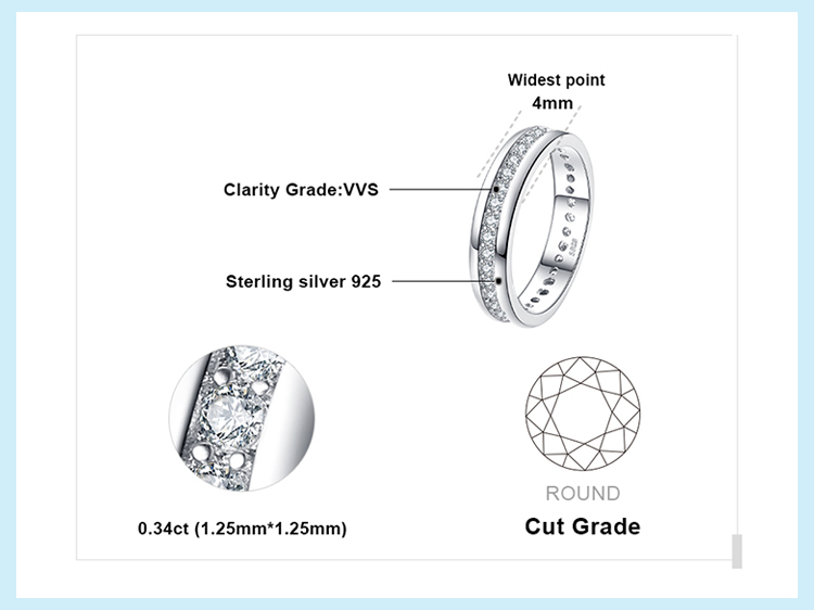 H18d0b52fb6d843bbb9ae75180b1e6d607 JewelryPalace CZ Wedding Rings 925 Sterling Silver Rings for Women Stackable Anniversary Ring Eternity Band Silver 925 Jewelry